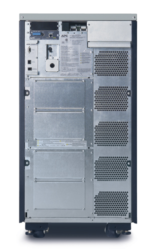APC Symmetra LX 12kVA Scalable to 16kVA N+1 Tower, 208/240V Input, 208/240V and 120V Output - Back View