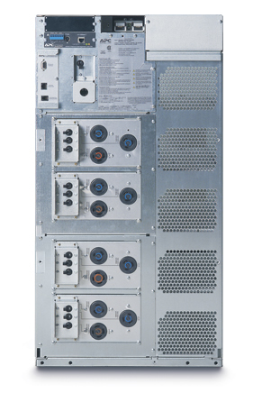 APC Symmetra LX 8kVA Scalable to 16kVA N+1 Rack-mount, 208/240V Input, 208/240V and 120V Output - Back View