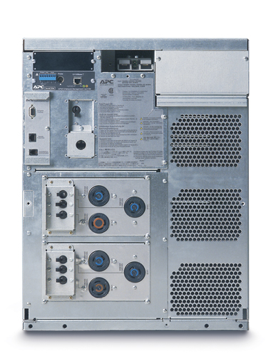 APC Symmetra LX 4kVA Scalable to 8kVA N+1 Rack-mount, 208/240V Input, 208/240V and 120V Output - Back View